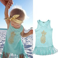 Baby Girl Beach Pineapple Dress