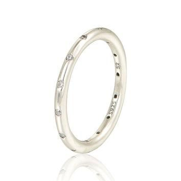 New 925 Sterling Rings Sample Ring Lover Charms Wedding Rings Suitable for Pandora St