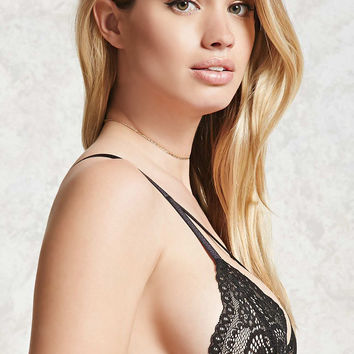 Strappy-Front Lace Bralette
