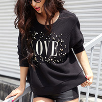 Bejeweled Love Sweatshirt