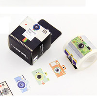 Camera tape 10M Retro Camera washi tape Cam polaroid vintage Camera deco tape Photographer tag label Photography Craft Stickers