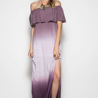 Mauve Off the Shoulder Ombre Maxi