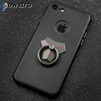 Powstro 360 Rotatable Phone Finger Ring 2 in 1 function  phone finger ring and phone stand for iPhone Samsung Smart Phone Tablet