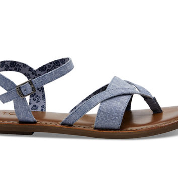 BLUE CHAMBRAY WOMEN'S LEXIE SANDALS