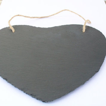 Large Hanging Slate Heart Chalkboard Sign, Heart Chalk Board for Rustic Wedding Decor, Menu Centerpiece Engagement, Wedding Photobooth Props