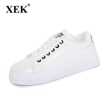 Women Casual Platform Shoes Fashion Spring Autumn Winter shoes Women Sneakers flats Breathable White shoes