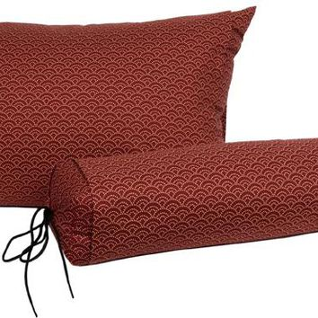 J-Life Seikai Ha Red Buckwheat Hull Pillow