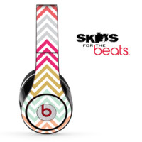 Colorful Vintage Chevron Pattern Skin for the Beats by Dre Solo, Studio, Wireless, Pro or Mixr