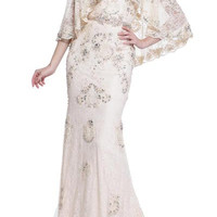17-20263 PRIMA Lace BOHO Cape Wedding or Mother of Bride Dress PLUS SIZES