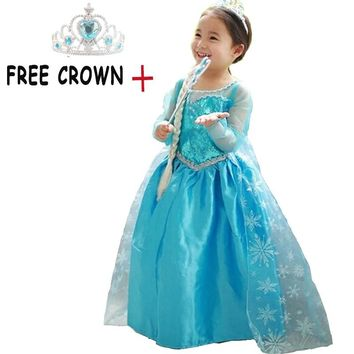 Princess Girl Fancy Halloween Cosplay Costume Fantasy Kids Party Long Prom Gown Dress Girls Clothes Children Clothing Vestidos