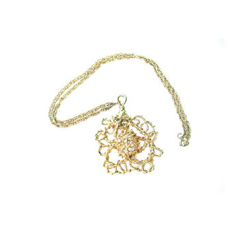 Large Free Form Sascha Gold Necklace 1970s