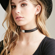 Faux Leather and Metal Choker