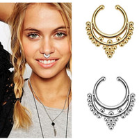 Boho Tribal Clip On Septum Ring Faux Nose Ring