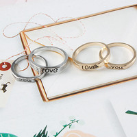 Two Piece Love You Rings (SIZES 7-8)