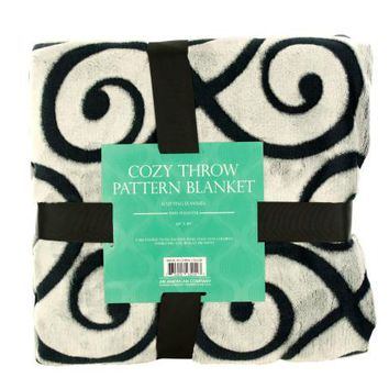 Cozy Cutting Flannel Fleece Throw Blanket ( Case of 1 )