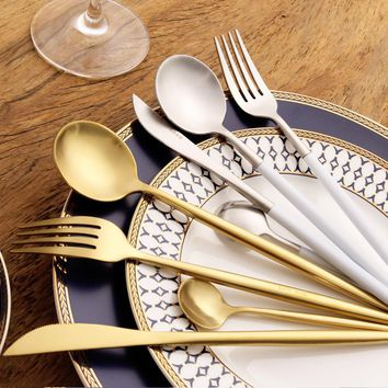 8 colors 18/10 Stainless Steel Silverware Set  - Free Shipping