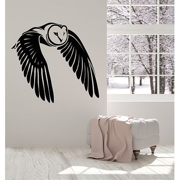 Vinyl Wall Decal Flying Bird Owl Wings Feathers Stickers (3454ig)