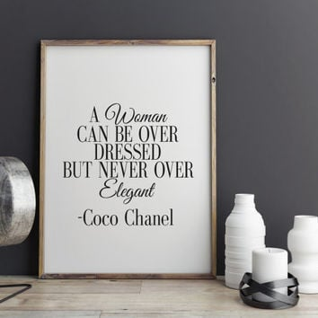 Printable Art Inspirational Print Coco Chanel Poster Coco Chanel Quote Typography Quote Home Decor Motivational Poster Print Coco Chanel