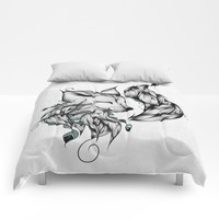 Fox B&W Comforters by LouJah