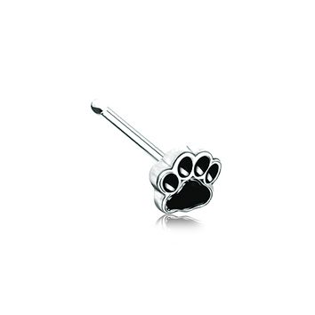 Animal Lover Paw Print WildKlass Nose Stud Ring