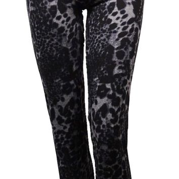 Kensie Women's Cheetah Print Stretch Pants
