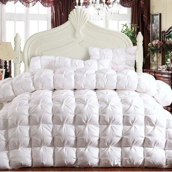 100% Goose Down Duvet Quilt Comforter queen king size 3.5kg filling  Bedding Quilt,Cotton Fabric Thickness Goose Down