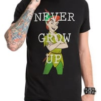 Disney Peter Pan Never Grow Up T-Shirt