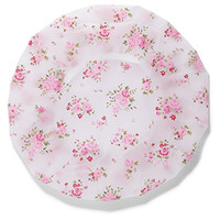 FOREVER 21 Rose Print Shower Cap White/Pink One