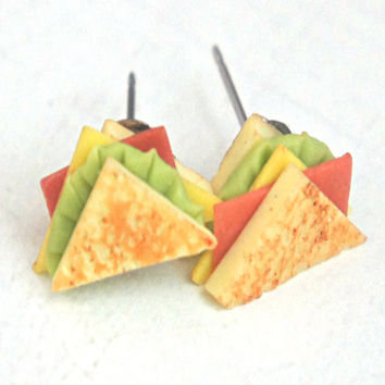 ham sandwich earrings