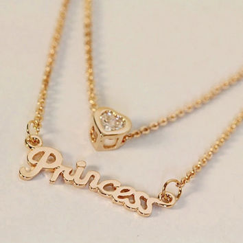 'Princess' Crystal Necklace