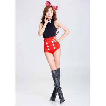 SESERIA Minnie Mouse Adult Halloween Costumes for Women Sexy Minnie Cosplay Women