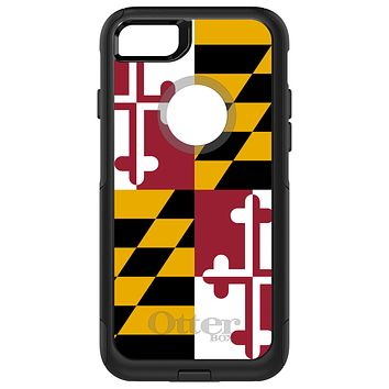 DistinctInk™ OtterBox Commuter Series Case for Apple iPhone or Samsung Galaxy - Maryland State Flag