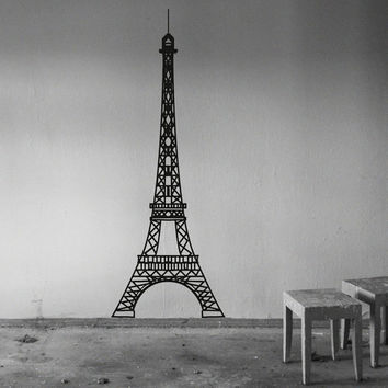 Eiffel Tower Wall Decal Vinyl Sticker Decals Art Home Decor Mural Eiffel Tower Paris Travel France Fashion Bedroom Dorm Living Room AN526