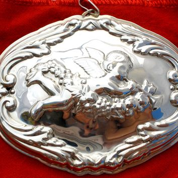 Reed & Barton Sterling Silver Christmas Ornament Vintage