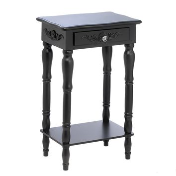 Carved Black Side Table 10015081