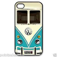 Blue, red & yellow Volkswagen VW mini bus mini vans iPhone 4 4s case > choose it