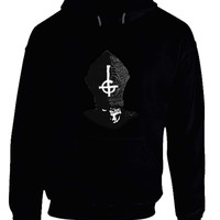 Ghost Band Mask Black And White Hoodie