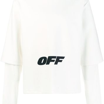 """Oversize Layered """"OFF"""" Sweatshirt by OFF-WHITE"""
