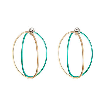 Delfina Delettrez - Big Ear-Clipse Hoop Earrings in 18kt Gold