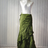 SELL 1 Pieces Only Hippy/Boho Long Skirt Green Free by satubambam