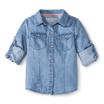 Infant Toddler Girls' Chambray Buttondown
