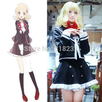 DIABOLIK LOVERS Komori Yui School Uniform Dress Outfit Anime Cosplay Costumes