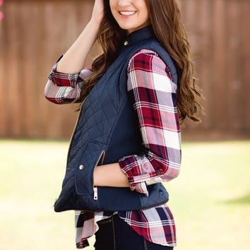 Just Chill'in Vest-Navy
