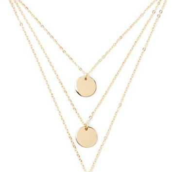Disc Charm Necklace Set