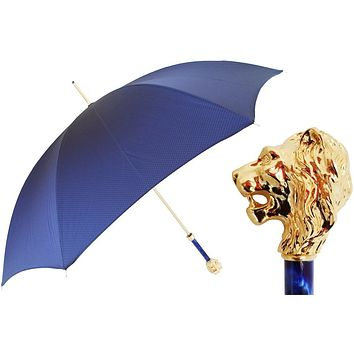 Pasotti Blue Leo Umbrella
