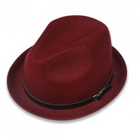 Red woolen cap   style zz926019 in  Indressme