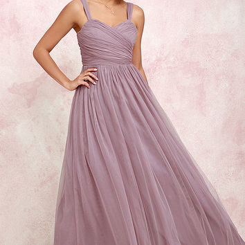 Sunday Kind of Love Mauve Tulle Gown