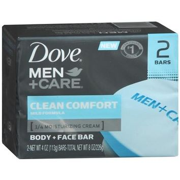 DOVE MEN + CARE CLEAN COMFORT BODY & FACE BAR 2 -4 OZ