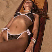 FENDI Fashion Halter Triangle Bikini Set