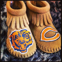 Custom Chicago Bears Moccasins